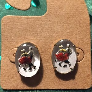 Vintage swing dancing earrings